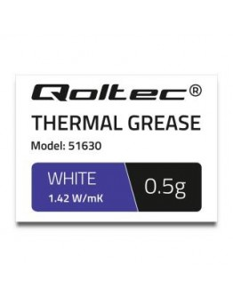 Pasta termoprzewodząca Qoltec 1.42 W/m-K | 0.5g | Biała
