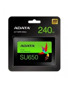 "Dysk SSD ADATA Ultimate SU650 240GB 2,5"" SATA3 (520/450 MB/s) 7mm, 3D NAND / Black Retail"