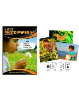 Papier fotograficzny Savio PA-10 A4 220g/m2 50 szt. mat dwus