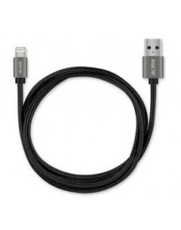 Kabel USB 2.0 Acme CB2031G A/M - Lightning/M, w oplocie, 1m, szary (space gray)