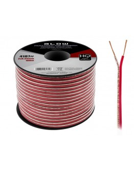 Kabel głośnikowy 2x0,35mm OFC elastyczny 1m
