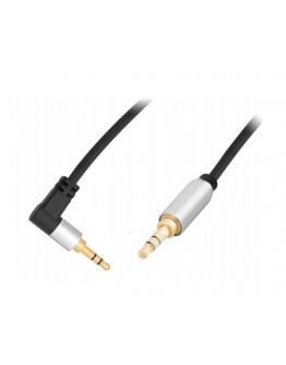 Kabel audio Minijack 3,5mm wtyk / 3,5mm wtyk kątowy 1m BLOW