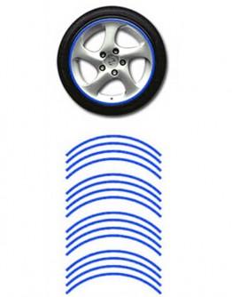 Naklejki odblaskowe na koła motoru / samochodu - niebieskie