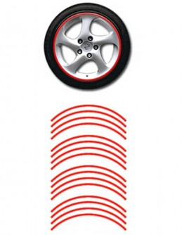 Naklejki odblaskowe na koła motoru / samochodu - czerwone