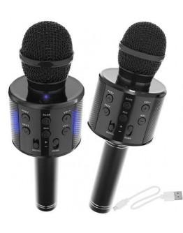 Mikrofon karaoke z głośnikiem czarny