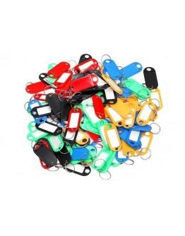 Breloki identyfikacyjne do kluczy 100szt kolorowe