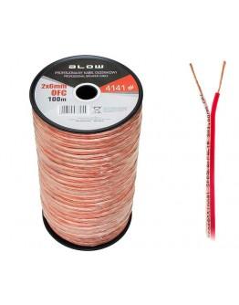 Przewód Głośnikowy 2x6,00mm OFC elasyczny 1M