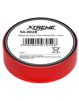 Taśma izol klej 0,13mm/15mm/10m - czerwona