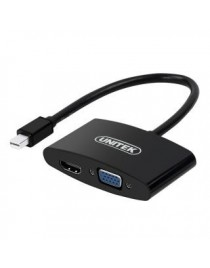 Adapter Unitek Y-6328BK miniDisplayPort do VGA/HDMI