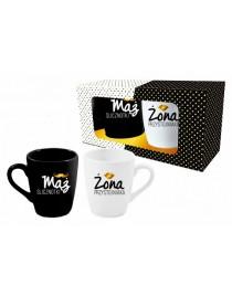 Zestaw 2 kubków black&white - Mąż/Żona