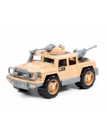 """Samochód- pickup wojskowy """"Obrońca-Safari"""" z 2 karabinami maszynowymi"""