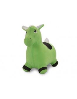 Koń skoczek materiał 002379 zielony