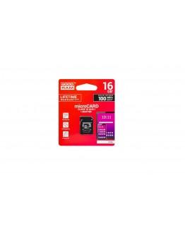 Karta micro-SD HC 16GB +ad. SD CL10 GOODRAM
