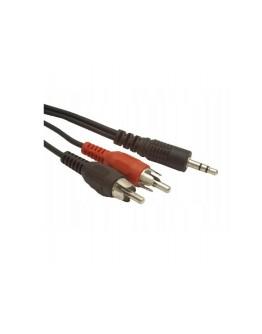 Kabel Gembird minijack 2xRCA mm 15m CCA-458-15M