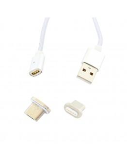 Kabel magnetyczny microUSB biały