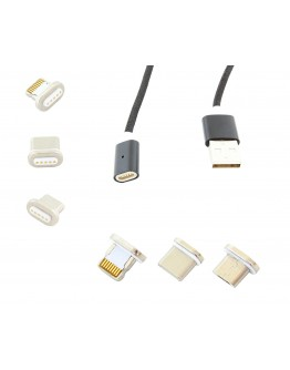 Kabel magnetyczny microUSB 3w1