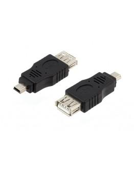 Przejściówka żeńska USB NA MINIUSB