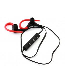 Słuchawki sportowe z hakiem ZS27C czerwone