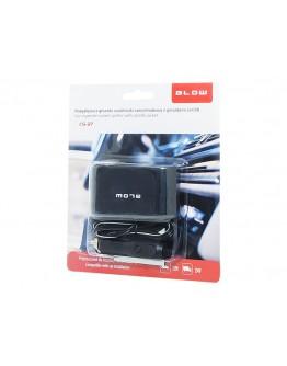 Rozgałęziacz zapal. samoch. 2xGN+USB CS-27
