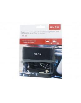 Rozgałęziacz zapal.samoch. 3xGN+USB CS-33