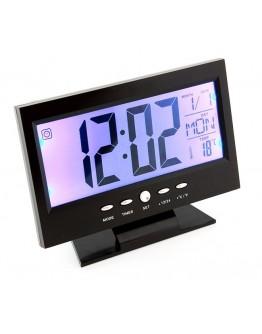 Zegar biurkowy z termometrem LCD ZG8