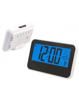 Zegarek biurkowy budzik termometr LCD