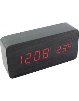 Elegancki zegar z termometrem drewniany