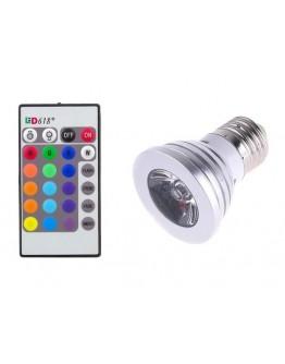 Żarówka RGB LED 16 kolorów pilot E27