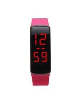 Zegarek LED opaska A135 różowy